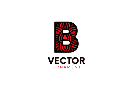 Letter B logo flat icon sign design.