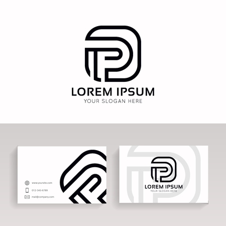 Clean P letter linear icon sign company logo vector design.