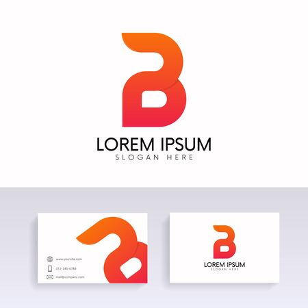 Letter b logo modern sign icon with business card vector design letter b logo modern sign icon with business card vector design stock vector 84982332 reheart Choice Image