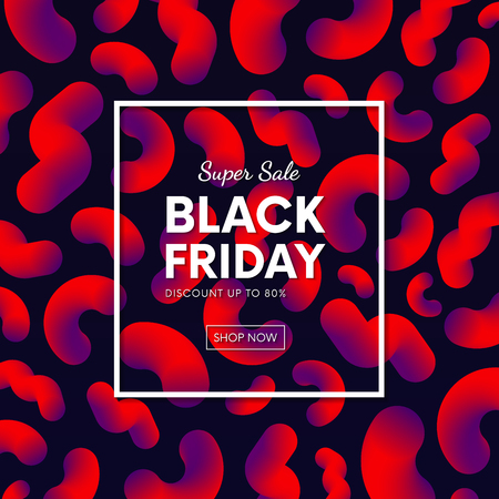 flayer: Abstract black friday sale banner vector design with abstract fluid backdrop. Illustration