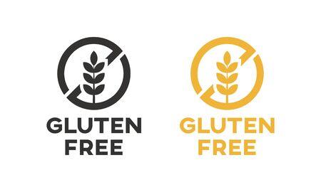 Diseño de vector de icono libre de gluten aislado.