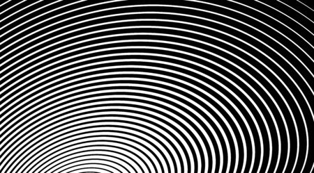 Optical illusion circle art abstract vector stripped background. Illustration