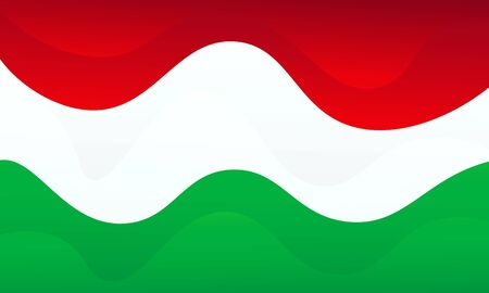 Hungary flag icon vector design. Abstract liquid gradient background. Trendy layered backdrop. 向量圖像