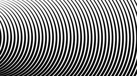 Halftone background with stripped black and white lines. Optical illusion art vector design. Illustration