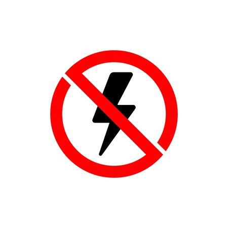 No lightning vector icon sign vector design.