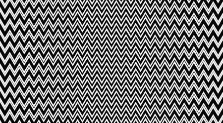 Abstract zig zag vector background. Black and white optical illusion texture. Geometric backdrop. Banque d'images - 139373574