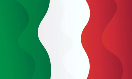 Italy flag icon vector design. Abstract liquid gradient background. Trendy layered backdrop. 向量圖像