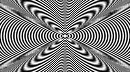 Abstract psychedelic art stripped background vector design.