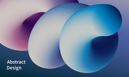 Abstract background with 3d fluid shape. Futuristic web page backdrop vector design.