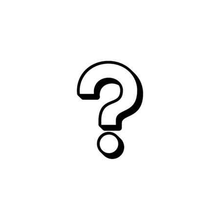 Question mark icon vector sign. Support symbol.