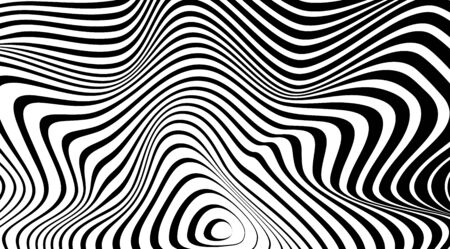 Optical illusion art abstract vector stripped background. Banque d'images - 139373675