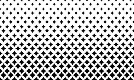 Vector halftone geometric background. Fade monochrome gradient. Stars gradation pattern. Vetores