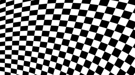 Abstract black and white squares optical illusion background. 向量圖像
