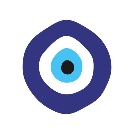 Turkish evil eye amulet sign vector design.