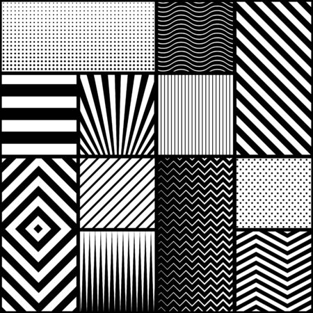 Conception de vecteur de motif géométrique sans soudure moderne.