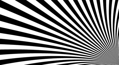 Black and white stripped lines background vector design. Optical illusion linear backdrop. Rise texture.