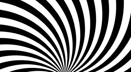 Abstract twisted stripped lines optical illusion background vector design. Illustration