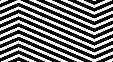 Zig zag pattern. Optical illusion effect. Stripped backdrop vector design.