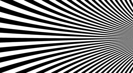 Black and white stripped lines background vector design. Optical illusion linear backdrop. Illustration