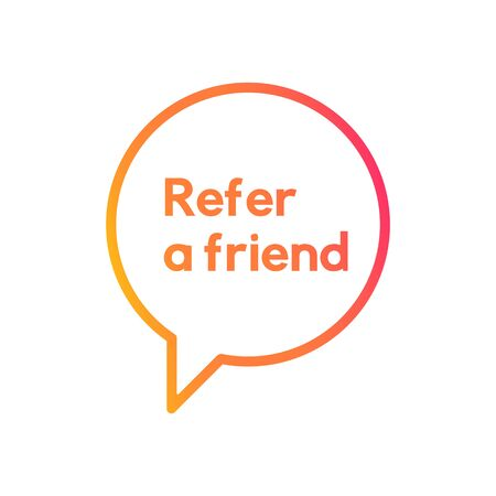 Reffer a friend banner vector design. Refferal system.