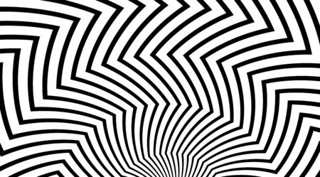 Zig zag pattern. Optical illusion effect. Stripped backdrop vector design. Banque d'images - 139290012