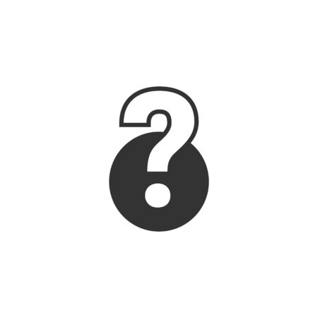 Question mark vector icon. Ask sign.