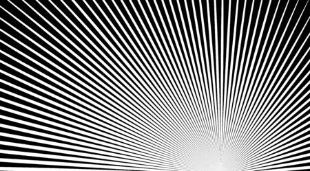 Halftone background with stripped black and white lines. Optical illusion art vector design.