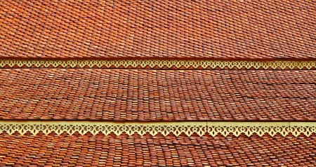 Roof temple in North Thailand photo