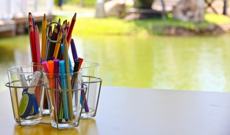 pencil in glass Stock Photo - 19381747