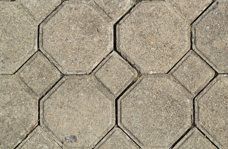Hexagon brick  Hexagon brick footpath  photo