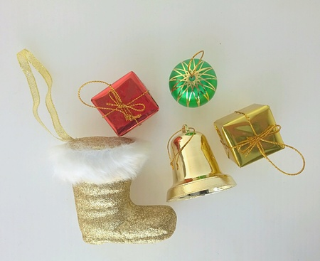 decorate: Christmas decorate on white background