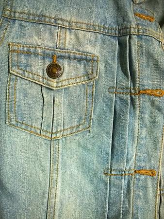 denim: Denim pocket on jacket Stock Photo