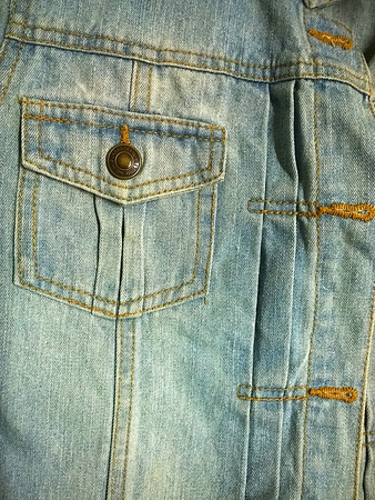 garment: Denim pocket on jacket Stock Photo