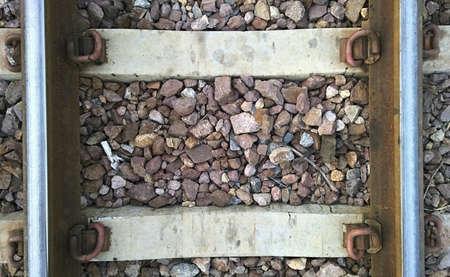 closeup: Closeup railway Stock Photo