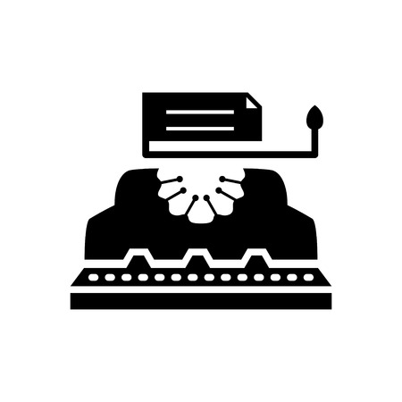 old typewriter: typewriter icon Illustration