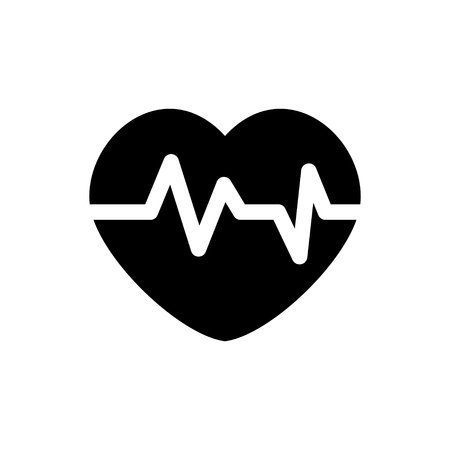 heart rate: Heart rate  icon Illustration