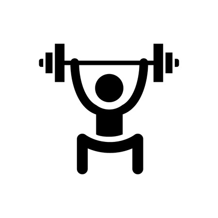lifting weights icon Stock Vector - 45800510