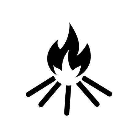 flame: Fire flame icon Illustration