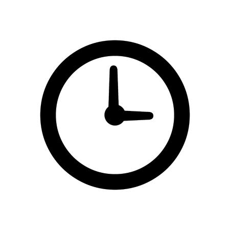 Icono de la hora del reloj Ilustración de vector