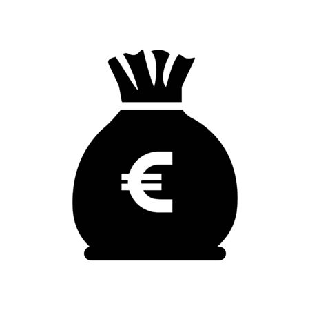 bag of money: euro oney bag icon