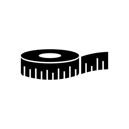 tape measure: measuring tape  icon