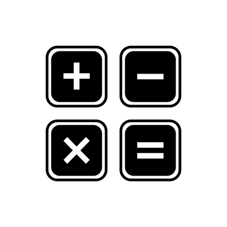 calculator icon: Calculator icon. Illustration