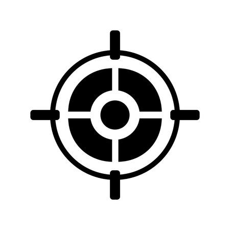 aim: Target aim icon Illustration