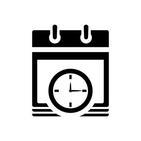date: calendar date with clock