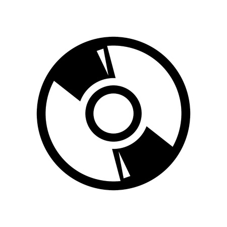 cdr: CD or DVD icon. Compact disc sign