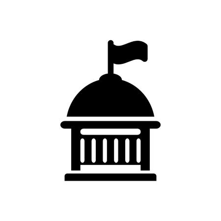 university building: university building   icon Illustration