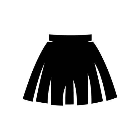 mini skirt: skirt icon Illustration
