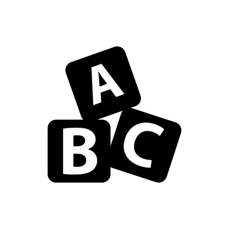 abc icon Stock Illustratie