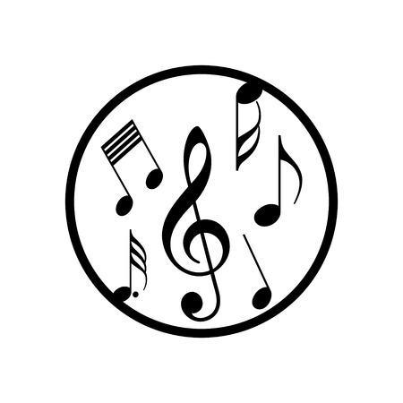 notas musicales: nota de la m�sica icono