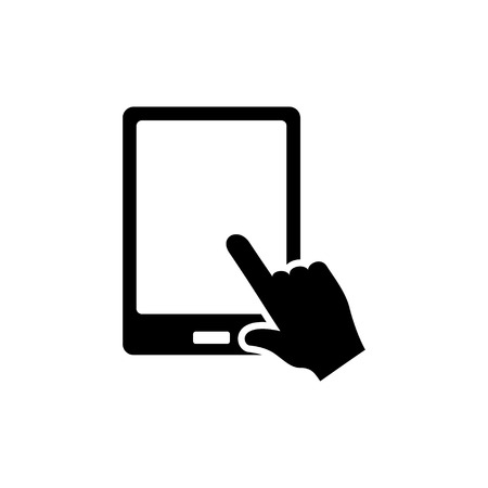 tablet pointer   icon Ilustracja